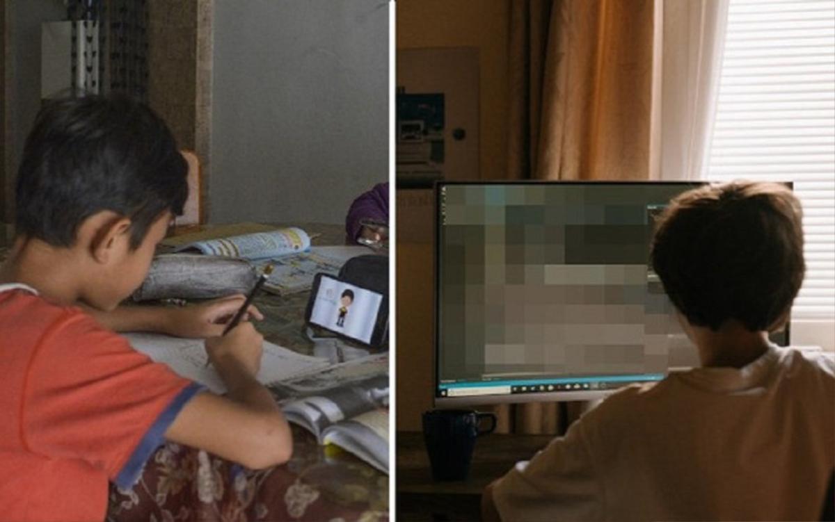 Học sinh đang thi trực tuyến thì nghe thấy tiếng rên rỉ trên màn hình